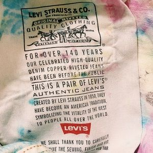 Levi's Shorts - Tie Dye Levi Jean Shorts
